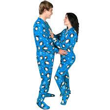 footed pajamas penguin fleece with drop seat pajama city