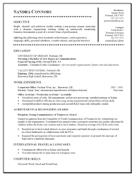 Job Resume Template College Student by Internship College Internship Resume
