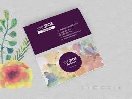 Purple Business Cards Two Sided Watercolor Business Cards Best Business Card Psd Templates