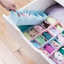 Plastic Storage Containers Dividers - plastic organizer tie bra socks drawer cosmetic container divider