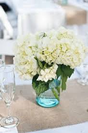 Mason Jar Centerpieces Wedding by Love The Small Arrangements And The Burlap Runner Would Use Mason