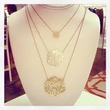 Gold Monogram Necklace Cutout Gold Monogram Necklace Initials Monogram Necklace And