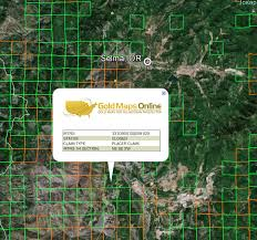 oregon gold maps gold claims