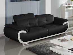 canapé cuir noir 3 places canapé et fauteuil en cuir 4 coloris bicolores smiley
