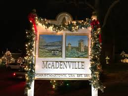 mcadenville christmas lights 2017 this tiny 600 person town 17 miles from charlotte is known as