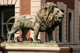 lion statue lion statue columbia new york columbia