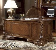 Bassett Furniture Home Office Desks by Excelsior Home Office Executive Desk By Aico Home Gallery Stores