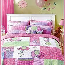 Kids Bedding Sets For Girls by Amazon Com Brandream 3 Piece Pink Elephant Quilt Set Girls Kids