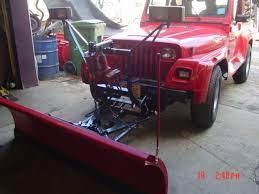 plow 1998 used western unimount installed on 1991 jeep wrangler