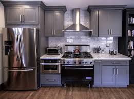 colored kitchen cabinets with stainless steel appliances kitchen renovation with stainless steel appliances gray
