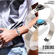 wrist bracelet men images Lux style bangle mens bracelet accessareatorcoise onyx silver by jpg