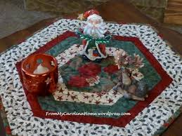 hexagonal table topper from my carolina home
