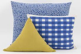 r u0026h triangle cushion moss green china blue filled u2013 raine