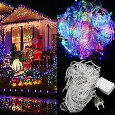 Pink Purple Blue Christmas Decorations by Cheap 200 Led 20m String Fairy Lights Christmas Xmas 64ft Garland