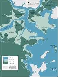 Map Of Boston Harbor by How Boston Made Itself Bigger