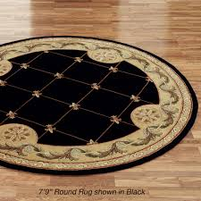 Black Round Area Rugs by Greek Roman Area Rugs Touch Of Class