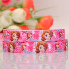 sofia the ribbon 5yards 3 8 9 mm beautiful sofia princess print grosgrain ribbon