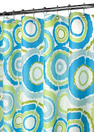 Circles Shower Curtain Groovy Circles Watershed Shower Curtain Pop Blueberry Bathroom