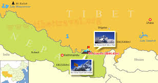 North India Map by Tibet Nepal Map Lhasa To Kathmandu Map Tibet Nepal Outline Map