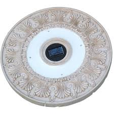 Round Solar Lights by Homebrite Solar White Outdoor Round Solar Led Stepping Stone