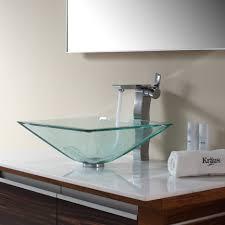 bathroom faucet fabulous square vessel sink kohler trough lowes