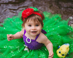 Mermaid Halloween Costume Toddler Baby Ariel Dress Etsy
