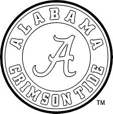 alabama crimson circle logo coloring page wecoloringpage