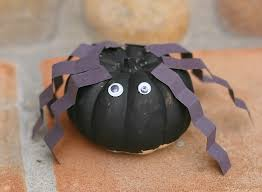 Halloween Decorations For Preschoolers - spider craft for kids using mini pumpkins buggy and buddy