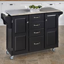 stainless steel top kitchen cart island with optional stool