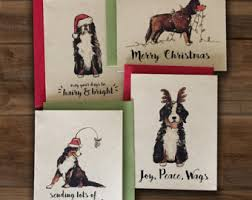 dog christmas cards dog christmas cards etsy