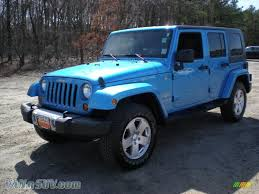 blue jeep wrangler unlimited 2010 jeep wrangler unlimited sahara 4x4 in surf blue pearl