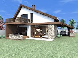 small modern house with cost effective accessories and decors