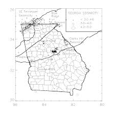 Northeast Georgia Map Home Owners Guide To Earthquake Hazards In Georgia