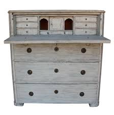 Swedish Secretary Desk by Swedish Gustavian Fall Front Secretary Chest With Reeded Detail