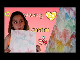 marbling paper with shaving cream and food coloring easy youtube