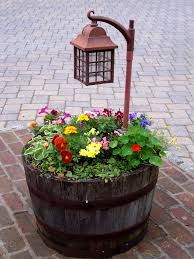 Outdoor Planter Ideas by Wildly Whimsical Barrel Planter Ideas Wine Barrel Planter