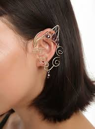ear cuff blackheart dainty gold ear cuff hot topic