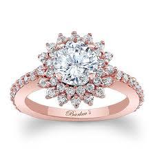 halo design rings images Barkev 39 s rose gold halo engagement ring 7969lp barkev 39 s jpg