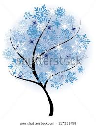 vector snow tree snowflakes stock vector 63059125