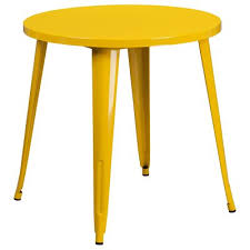 30 inch c table yellow metal 30 inch round indoor outdoor cafe table rc willey