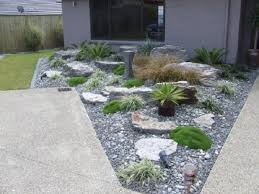 best front yard landscape designs with river rocks outstanding