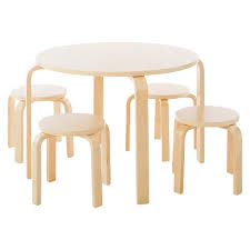 guidecraft childrens table and chairs 5 piece kids table and stools set guidecraft target