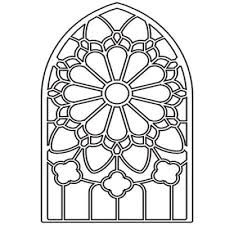 simple clipart stained glass window pencil and in color simple