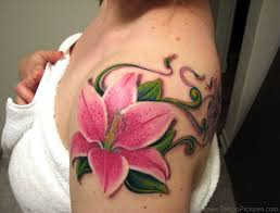 83 dazzling lily flower tattoos on shoulder