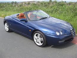 2004 04 reg alfa romeo spider 2 0 jts lusso manual in blue
