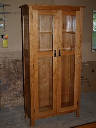 Cherry Bookcases With Glass Doors Bookcases Branch Hill Joinery