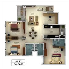 appealing map for 3bhk house photos best inspiration home design