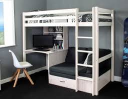 High Sleeper With Desk And Futon Thuka Highsleepers Archives Rainbow Wood