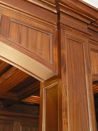 mahogany coffered ceiling and paneled residential bar cullen grace