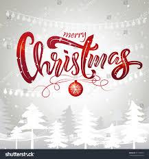 merry christmas scenery christmas tree ball stock vector 777102073